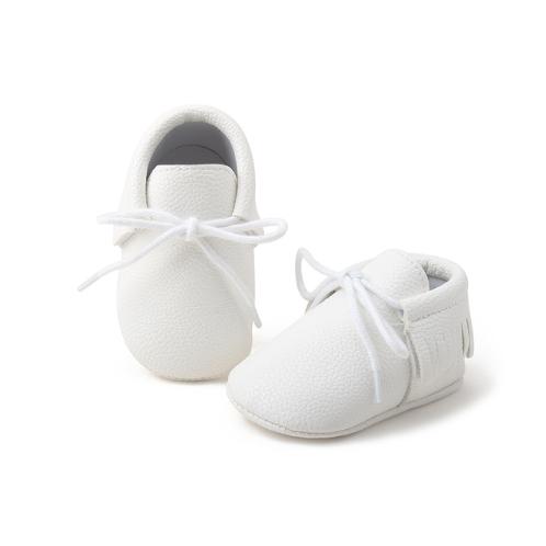 Fringe Trim Baby Shoes