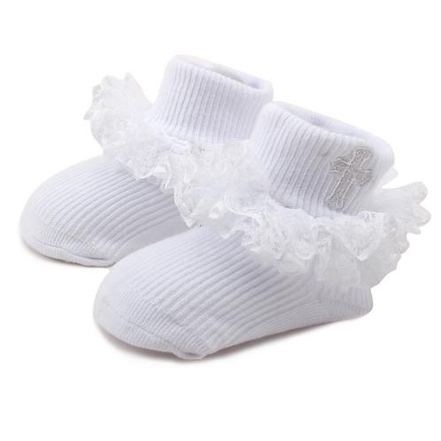Baby Girl Infant Kids Lace Trim Christening Baptism Holy Communion Occasion Ceremony Baby Socks