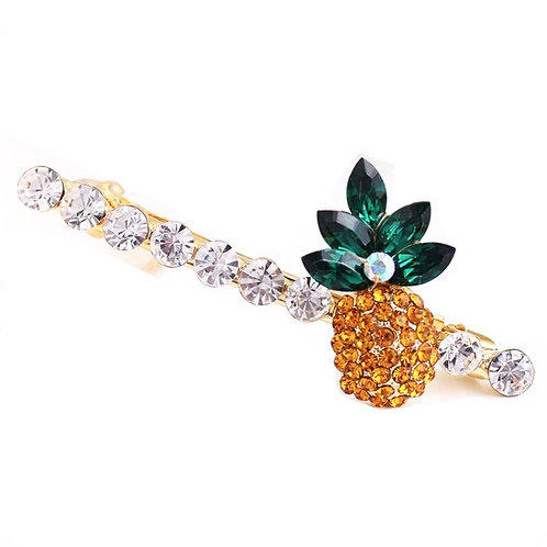 Rhinestone Pineapple Hair Pin - Set of 2