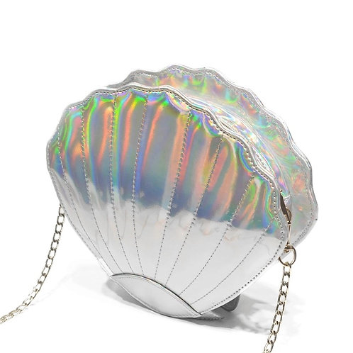 Iridescent Seashell Crossbody Bag