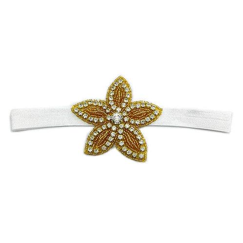Baby Girls Kids Crystal Star White Elastic Handmade Headband