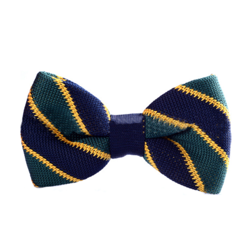 Green Varsity Knitted Bow Tie