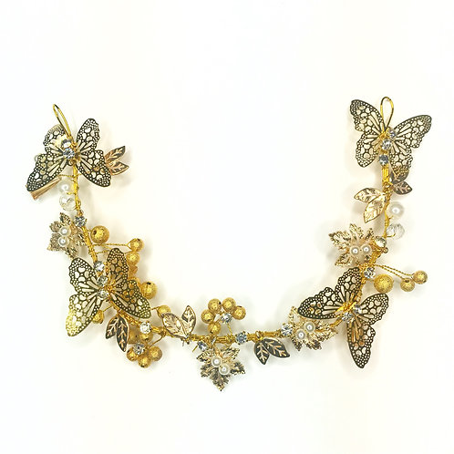 Gold Butterfly Headpiece