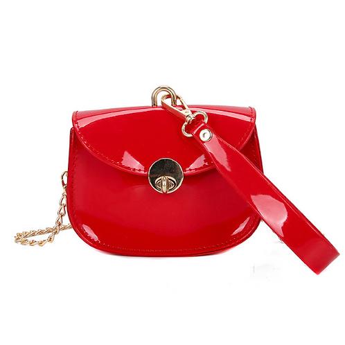 Patent Leather Wristlet Crossbody Bag