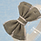 Baby Girls Kids Grey Burgundy Burlap Bow Elastic Headband