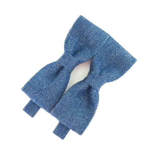 Denim Bow Hair Clip Set
