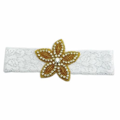 Lace Crystal Gold Star Headband