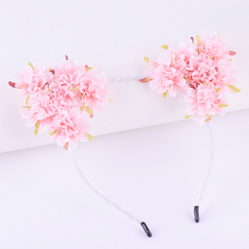 Mini Peonies Floral Cat Ear Headband