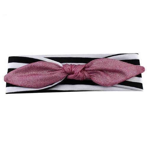 Glitter Metallic Tied Cotton Headband