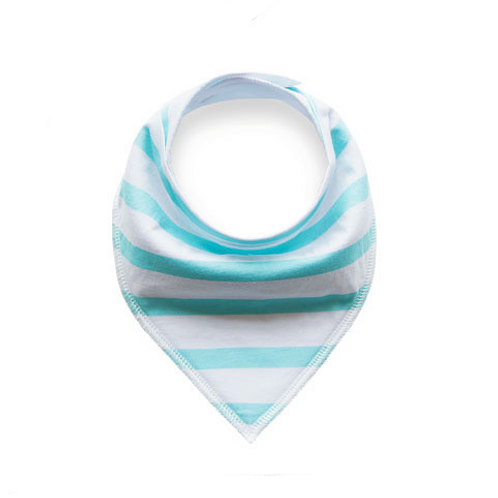 Light Blue Striped Bandana Bib