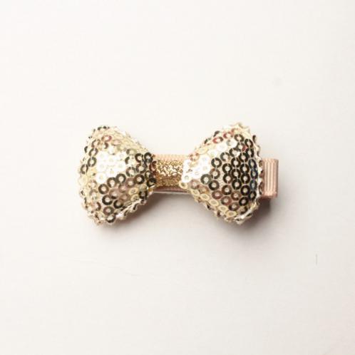 Mini Sequin Bow Hair Clip - Set Of 4