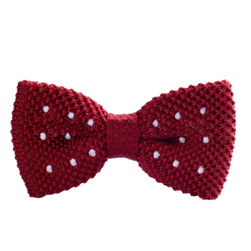Dotted Knitted Bow Tie