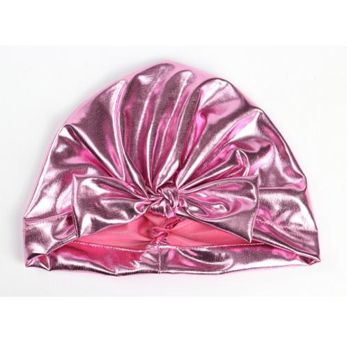 Metallic Bow Turban Hat