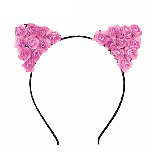 Paper Rosettes Cat Ear Headband