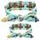 Thumbnail: Mommy & Me Tied Cotton Turban Headband Set
