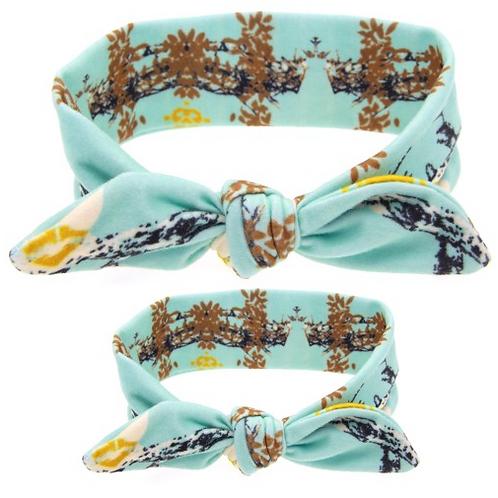 Mommy & Me Tied Cotton Turban Headband Set