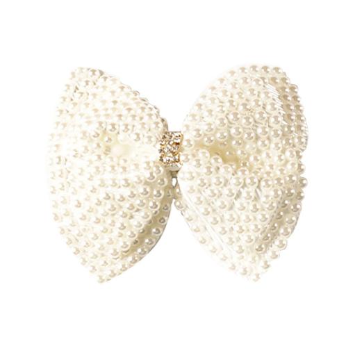 Bow Pearl Hair Clip - Set Of 2