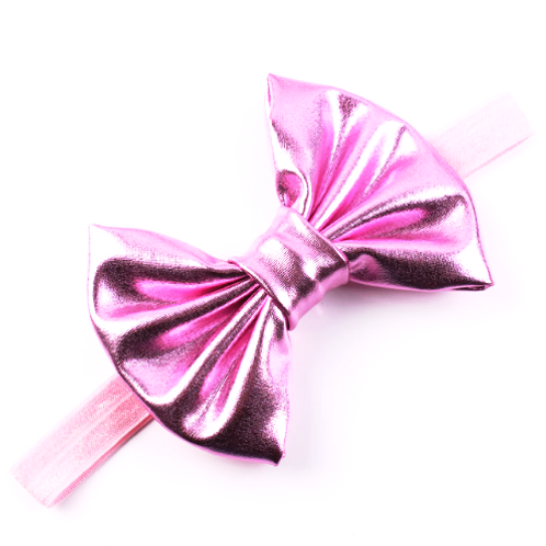Metallic Bow Elastic Headband
