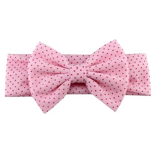 Mini Polka Dots Bow Headband