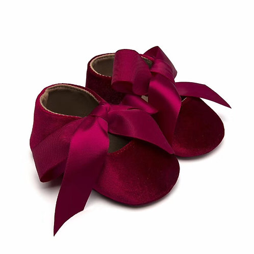 Velvet Ribbon Bow Shoe