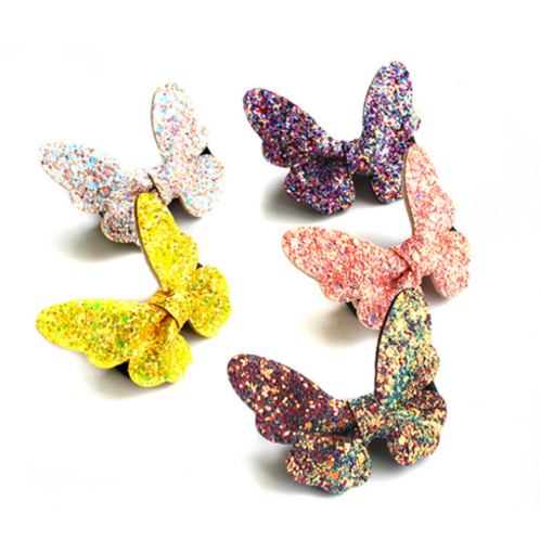 Glitter Butterfly Hair Clip Set of 5