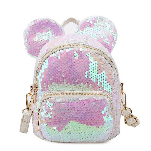 Mini Sequin Bear Ears Backpack