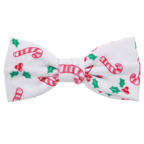 Holiday Print Bow Hair Clip