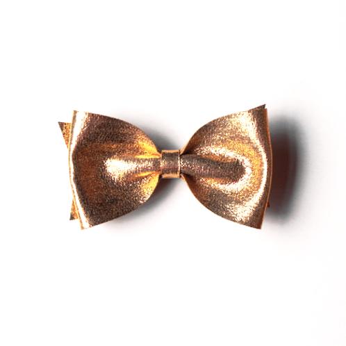 Large Metallic Bow Clip