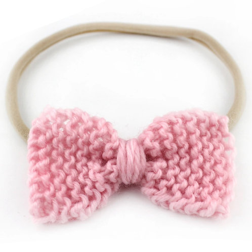 "3"" Solid Knitted Bow Headband"