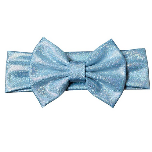Glitter Metallic Bow Turban