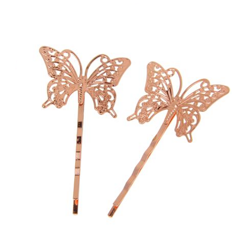 Vintage Butterfly Hair Pin - Set of 2