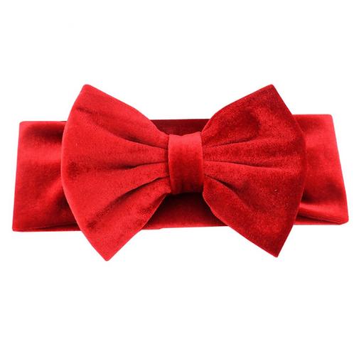 """5"""" Plush Velvet Bow Headband"""