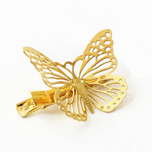 Gold Butterfly Hair Clip - Set of 3