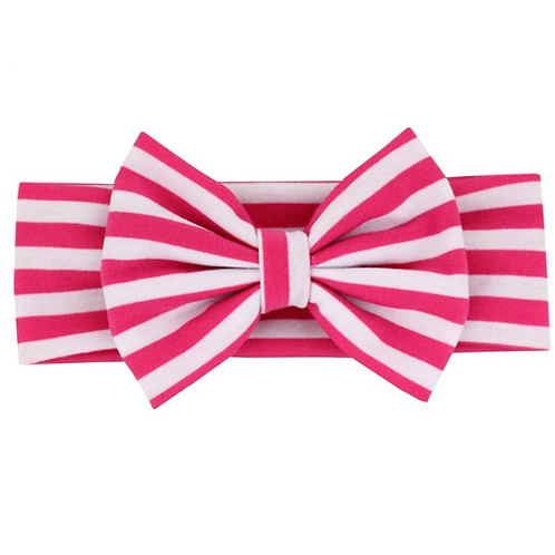 Striped Cotton Bow Turban