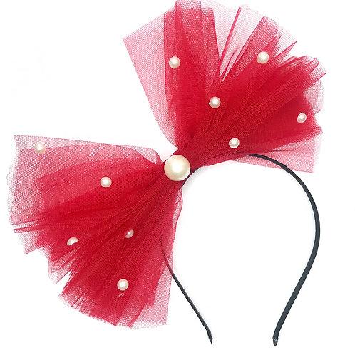 Jumbo Tulle Pearl Embellished Headband