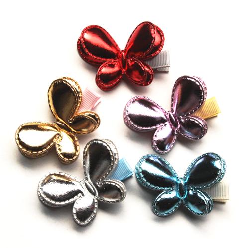 Metallic Butterfly Hair Clip - Set of 2