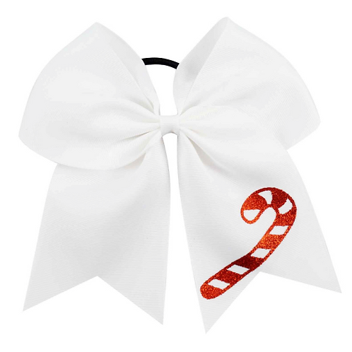 Candy Cane Ribbon Hair Tie