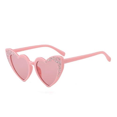 Rhinestone Heart Sunglasses