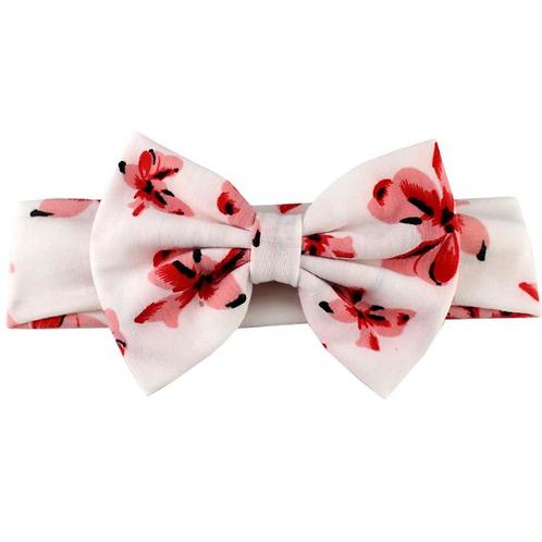 Hawaiian Floral Print Cotton Bow Turban