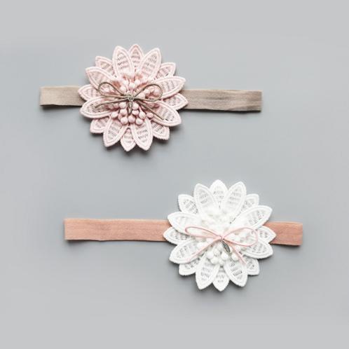 Embroidered Starburst Floral Headband