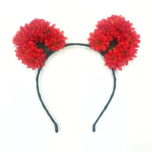 Peony Lace Cat Ear Headband