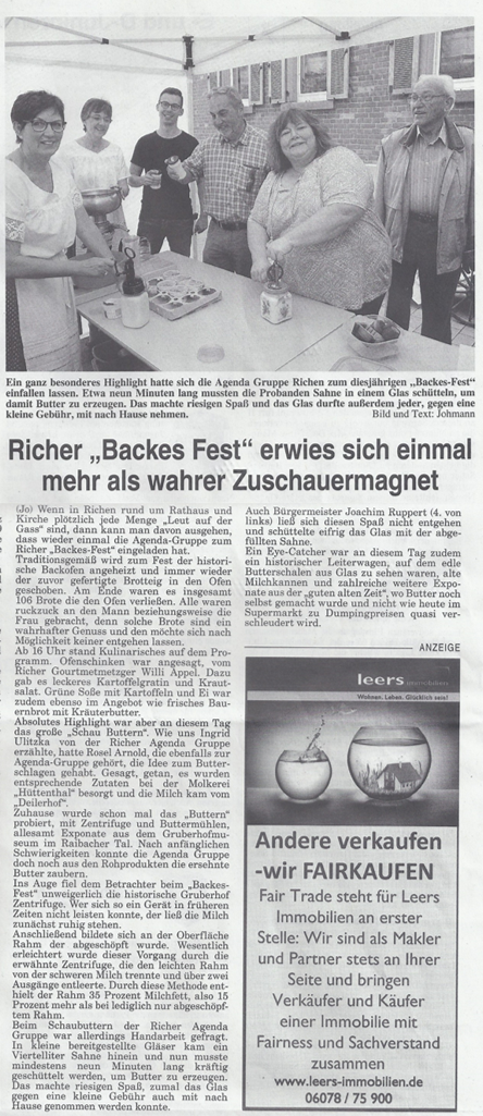 Backesfest Presse