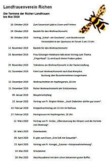 2013-10-01 Termine Landfrauenverein Rich