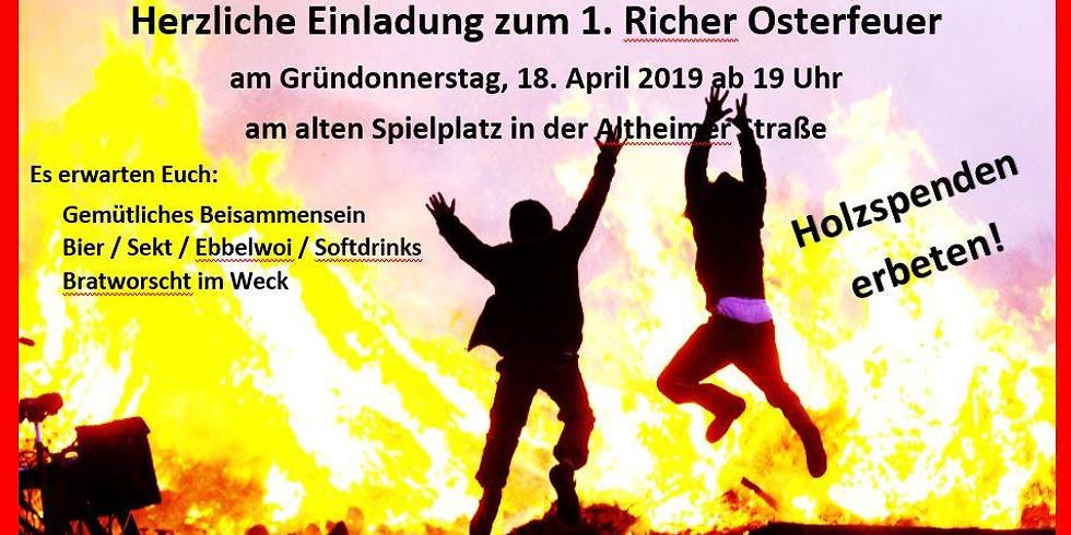 1. Richer Osterfeuer