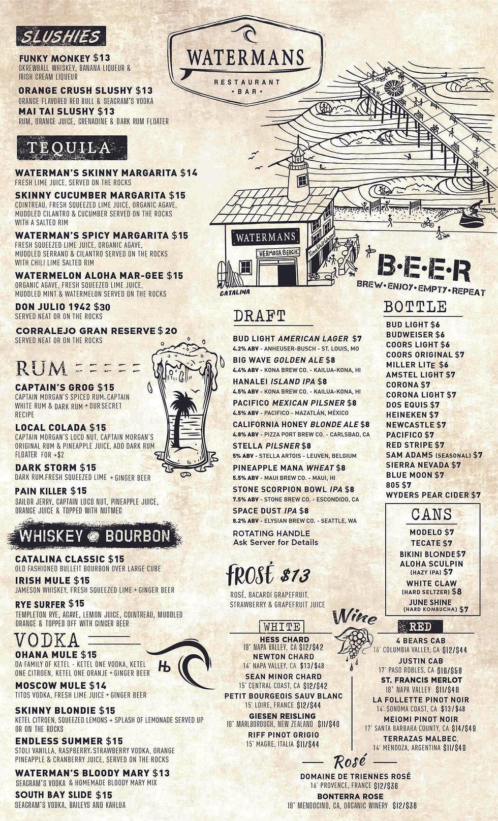 Watermans-hermosa-beach-drink-menu-2020.