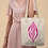 Thumbnail: Natural Tote Bag - Soft Purple