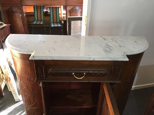 Greek Narrow Marble Topped Hall Cupboard