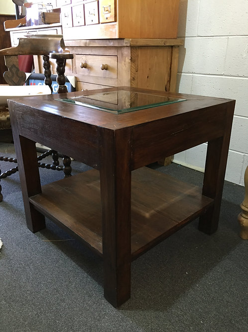 Square Glassed Topped Coffee Table