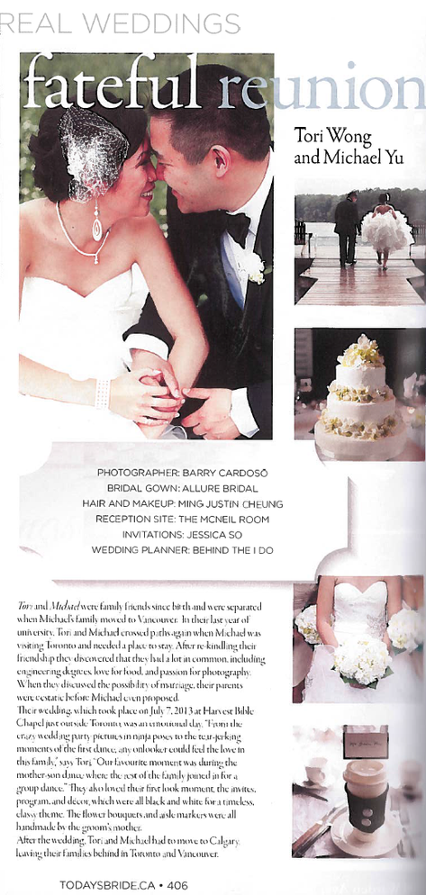 Featured on Today's Bride