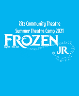 A poster for Frozen Jr. at the Ritz Community Theatre Summer Theatre Camp 2021